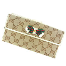 Gucci Wallet Purse Long Wallet G logos Brown Woman Authentic Used B504