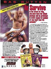 Bas Rutten Signed MMA Book Ad 8x10 Magazine Page BAS Beckett COA Pancrase UFC 20