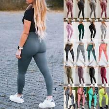 Damen Fitness Yoga Hose Anti-Cellulite Kompression Leggings Laufhosen Leggins