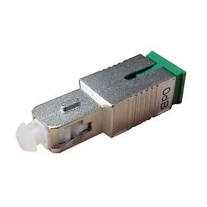 SC/UPC Male to SC/APC Female Hybrid Adapter, Metal Housing, Zirconia Sleeve