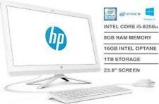 """HP ALL IN ONE 24-F0024NA I5-8250U 23.8"""" DESKTOP PC 1.6 GHZ 1TB HDD 16GB OPTANE"""