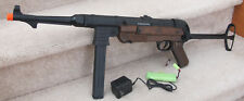 German MP40 Metal Gearbox Auto Electric Airsoft Gun 350 FPS Black & Brown