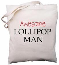 Awesome Lollipop Man - Natural Cotton Shoulder Bag - Gift