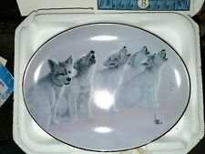 Bradford Exchange Plate Soul Music The Wild Bunch by Lee Cable Wolf Pups Howling