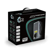 ACE 520w Grigio PC PSU Alimentatore 120mm ventola di raffreddamento
