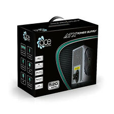 ACE 520W Grey PC PSU Power Supply 120mm Cooling Fan