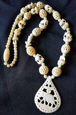 Vintage Carved Elephant Necklace