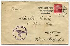 1938 Germany Buchenwald Concentration Camp Commandant Cover to Vienna KZ