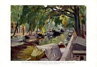 Heerengracht in Amsterdam XL Kunstdruck 1926 von Max Köcke Wichmann † Graatz