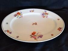 "K & A Krautheim Selb Bavaria Oval Serving Platter 14 1/4"" Floral"