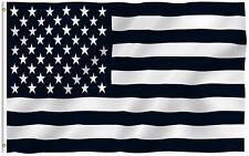 3'x5' BLACK and WHITE AMERICAN FLAG, military, nascar, army USA premium
