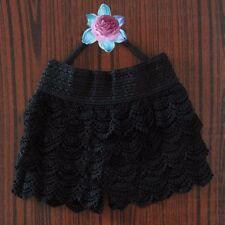 Women's Sweet Cute Crochet Tiered Lace Summer Shorts Short Pants Skirts Dress