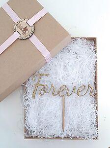 Forever Cake Topper - Wooden Cake Topper - Wedding Cake Topper