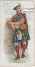 Farquharson Family Clan Scotland History Celtic Tartan 100+ Y/O Trade Ad Card