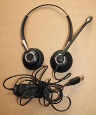 Jabra Biz 2400 II USB 2499-829-309 Casque Écouteurs - Bonne Utilisé État