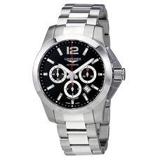Longines Conquest Chronograph Black Dial Automatic Mens Watch L38014566