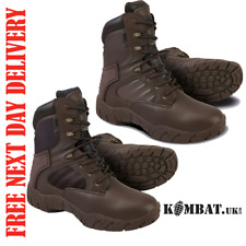 TACTICAL PRO BROWN BOOT 50/50 OR FULL LEATHER KOMBAT UK MENS PATROL CADET ARMY