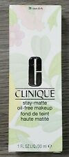 Clinique Stay-Matte Oil-Free Makeup- 28 Clove (D-P) 1 FL.0z