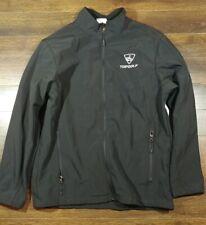 Mens Black Topgolf Top Golf Full Zip Lightweight Jacket Size Large Coat