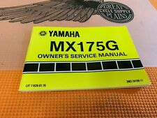 NOS 1979 Yamaha MX 175G Owners Service Manual / Book