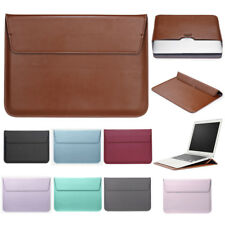 """For MacBook Air Pro 11""""12"""" 13"""" 15Inch Leather Laptop Bag Pouch Sleeve Case Cover"""