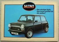 MINI HLE & MAYFAIR Car Sales Brochure 1985 GERMAN TEXT #EO200