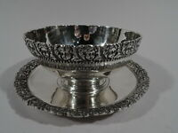 Tiffany Sauce Bowl on Stand - 8173 - Antique Plate - American Sterling Silver