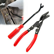 Car Door Trim Clip Removal Pliers Upholstery Remover Pry Tool Dash Panel Set