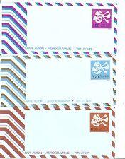 Israel . years 1974, 1975 Aerogrammes.  Postally Unused