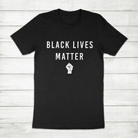 Black Lives Matter BLM Fist Logo No Justice No Peace Equality Unisex Tee T-Shirt