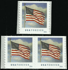 Scott 5052, The 2016 Flag Issue Coil Pair & Single - MNH