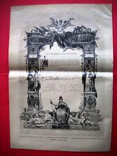 La pergamena dei ministri nel 1885 - miniatura di Prospero Piatti