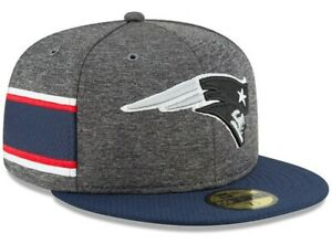 """NEW ENGLAND PATRIOTS New Era 59FIFTY Sideline Hat Baseball Cap Fitted 7 1/4"""" $38"""