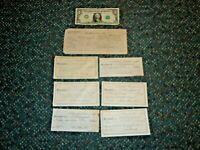 1933 Pere Marquette RR vs Gardinear Lawsuit Employee Cash Receipts in good shape