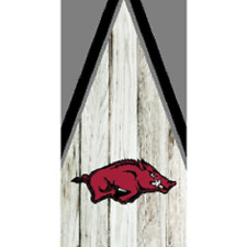 Single Arkansas Razorbacks stripe Cornhole Wrap - Board Decal - FOOTBALL