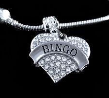 Bingo Charm (Charm Only) Bingo player jewelry gift  Austrian crystal heart