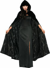 Morris Costumes Women's Velvet Satin Beautiful Cape Black One Size. UR28080