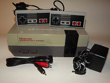 NINTENDO NES SYSTEM CONSOLE COMPLETE WITH NEW 72 PIN INSTALLED & GUARANTEE ye