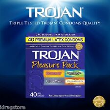 Trojan Pleasure Pack Assorted Premium Latex Condoms 40-Count