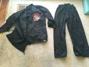 Martial Arts Uniform GI Karate Taekwondo MMA Black Youth Size 2