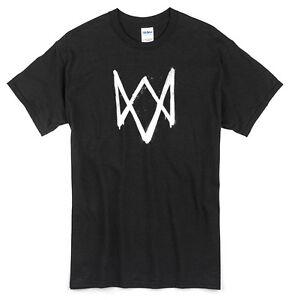 Watch Dogs Logo T-Shirt black new hacker game