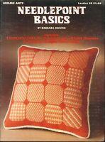 Needlepoint Basics 1974 Hunter Leisure Arts 28 Techniques Practice Cards Sampler