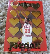 Michael Jordan Basketball Gold Card 1995 Investors Chicago Bulls Hearts CP#1