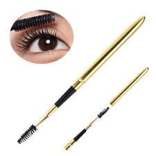 1x Gold Foldable Eyelash Mascara Wand Pen Eyebrow Spiral Brush Makeup Tool