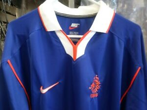 New Authentic Nike1998 Netherland Holland L/S Player Issue Jersey Bergkamp era