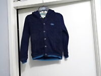 BOY'S TED BAKER BLUE BOTTOMS UP HOODIE Cardigan 5-6 YEARS