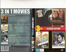 Beyond Justice-1992-Rutger Hauer/Piranha-1995/The Black Cobra-1987-3 Movie-DVD