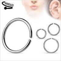 20g Annealed Steel Seamless Nose Hoop Tragus Cartilage Segment Look Ear Ring