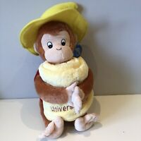 BNWT Curious George Universal Studios Plush Soft Toy Monkey Yellow Hat Towel