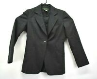 Harve Benard by Holtzman Women's Size 4 100% Wool Blazer Jacket Dark Gray